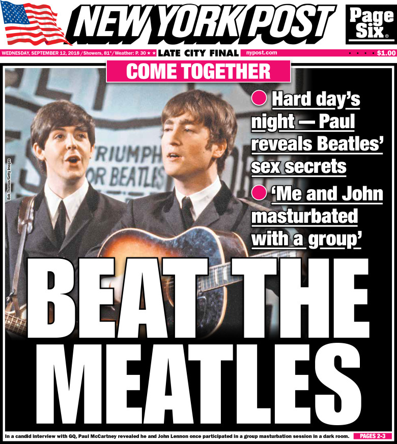 'Beat The Meatles' - New York Post